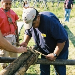 Tying-off-the-main-teepe-poles